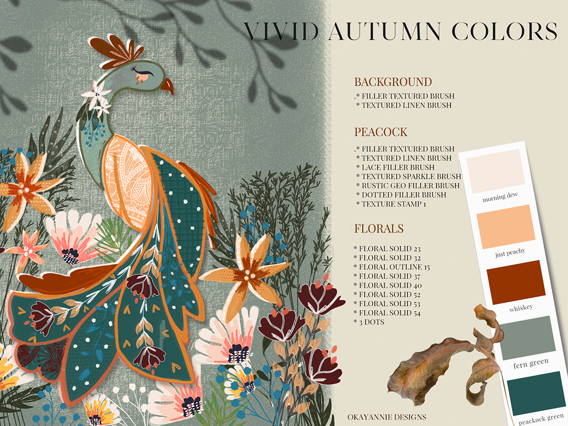 Textured Autumn Stamp & Brush Pack for Procreate