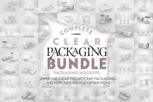 The Clear Packaging Mockup Bundle