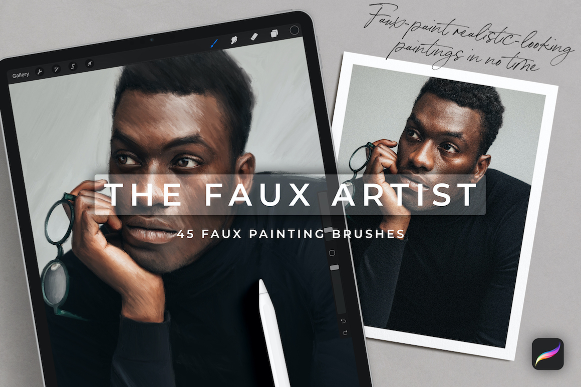 The Faux Artist – 45 Procreate Brushes