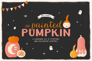 The Painted Pumpkin: Halloween Illustrations