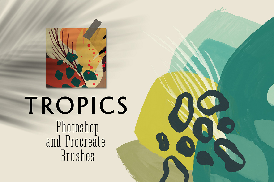 Tropics - Photoshop and Procreate Stamp Brushes