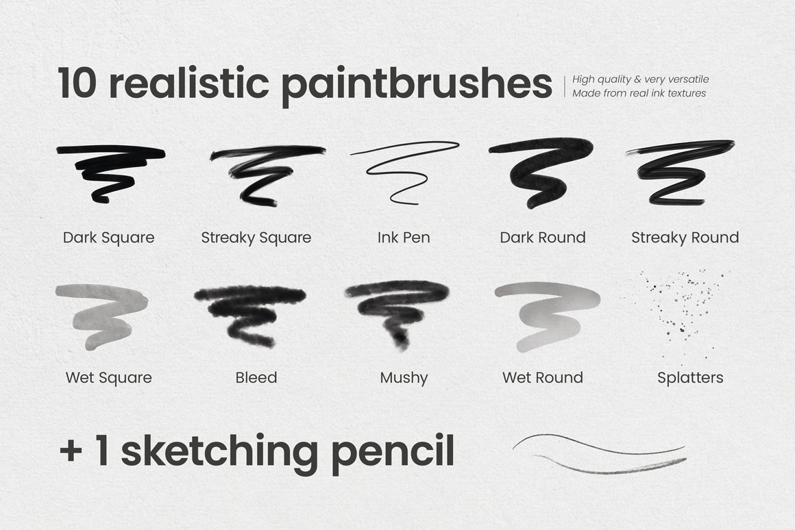 Ultimate Ink Brushes For Procreate