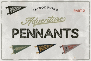 Vintage Camping Pennants Set | Part 2