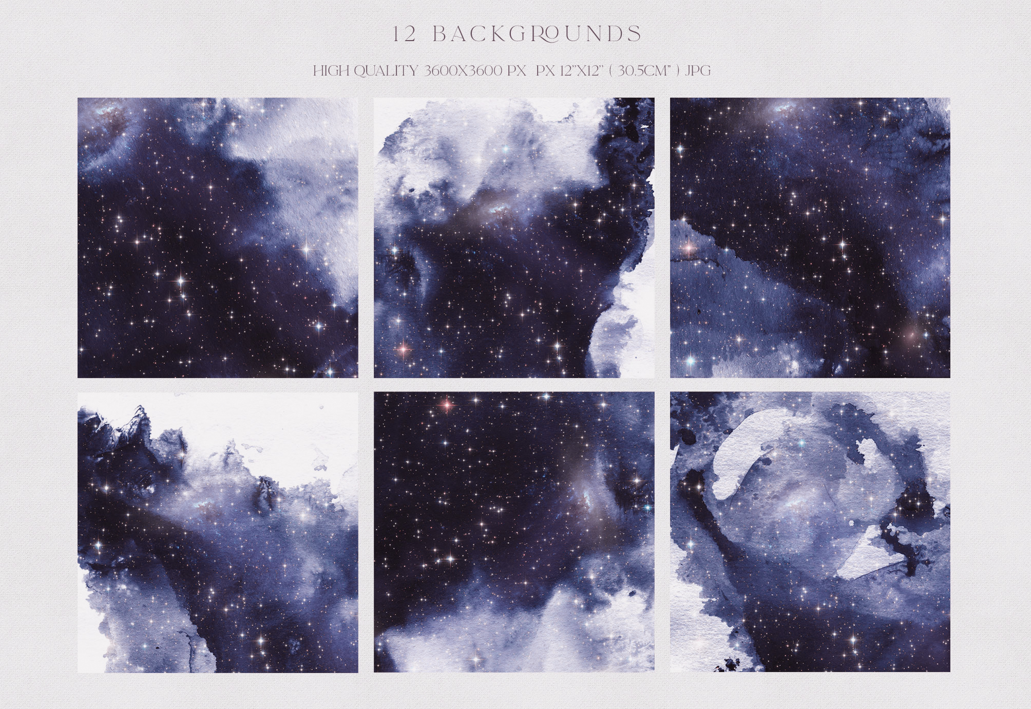 Watercolor Galaxy Backgrounds 3