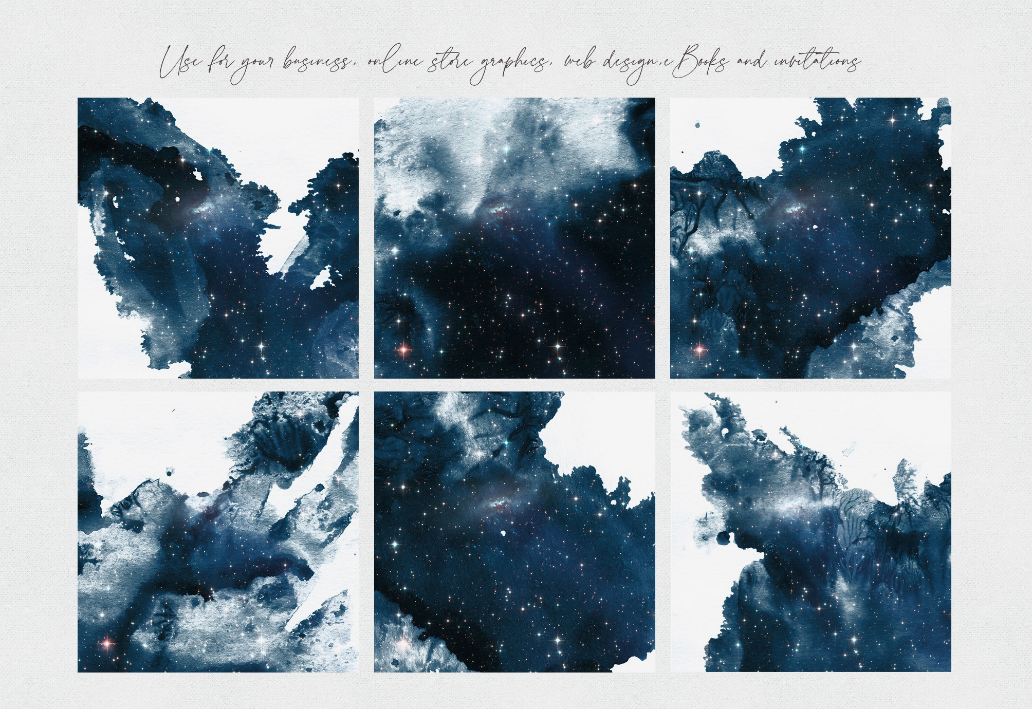 Watercolor Galaxy Backgrounds 4