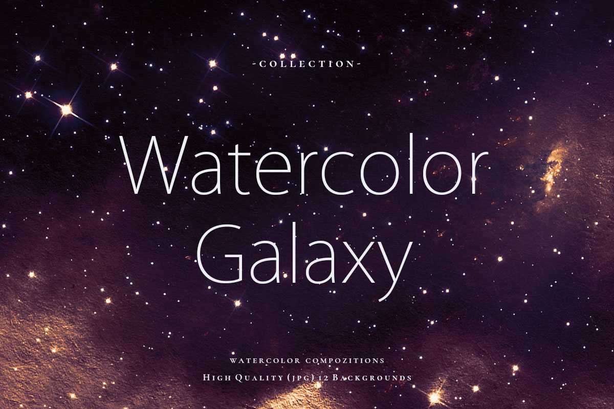 Watercolor Galaxy Backgrounds 5