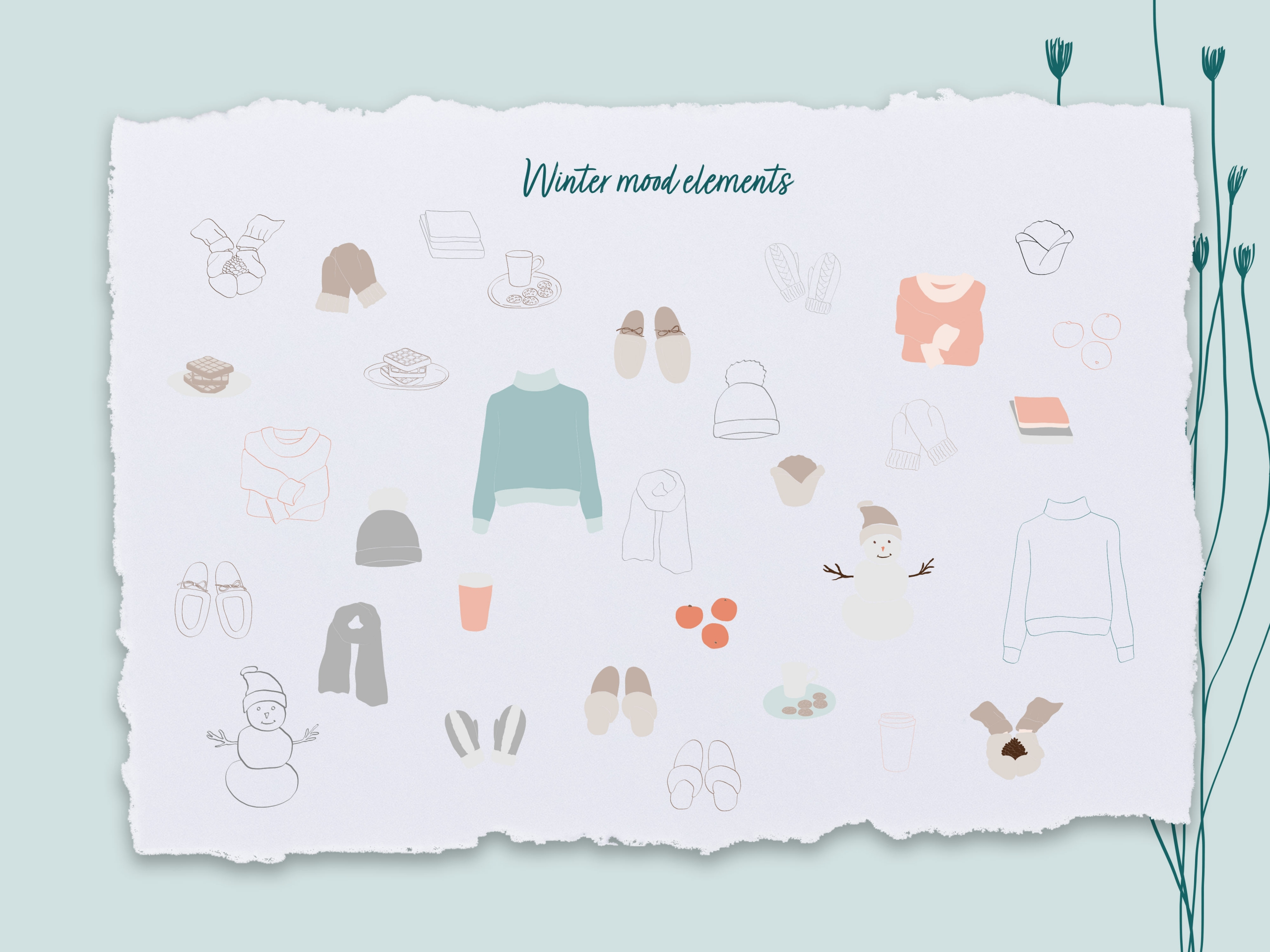 Winter Holiday Vector Elements