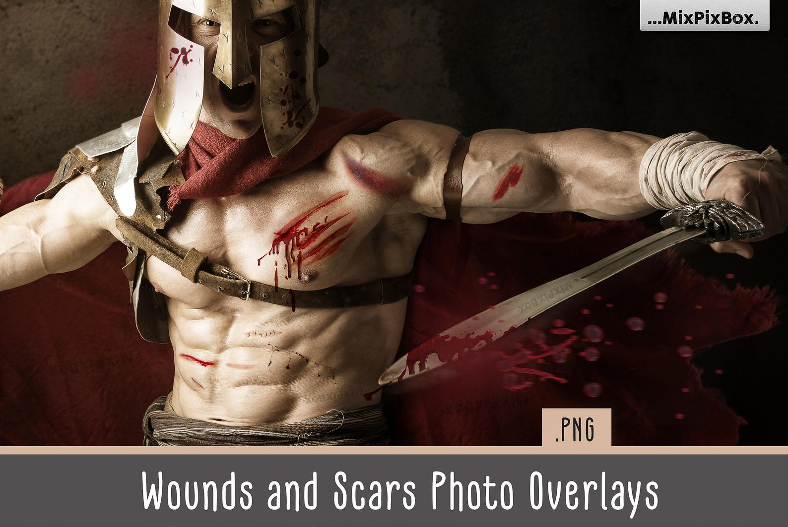 Wounds and Scars Overlays
