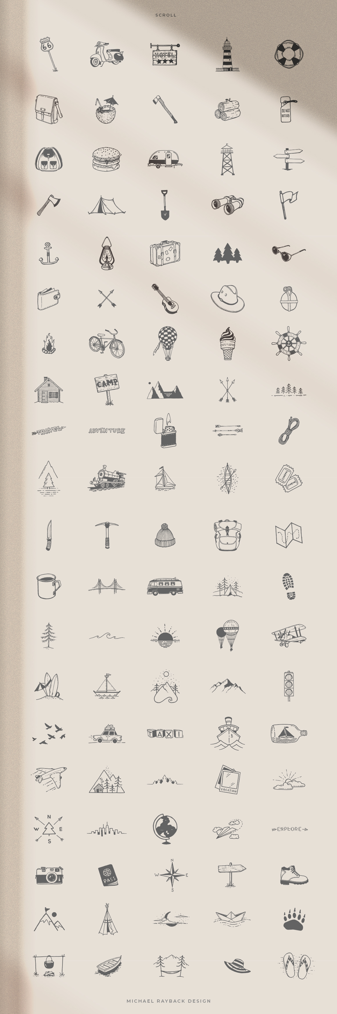 100 Hand Drawn Elements - Adventure