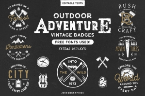 12 Vintage Outdoor Adventure Logos