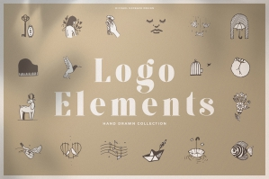 150 Hand Drawn Elements - Logo