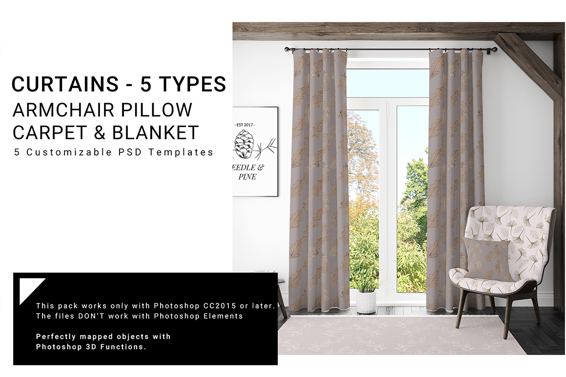 5 Types of Curtains Armchair Pillow & Blanket