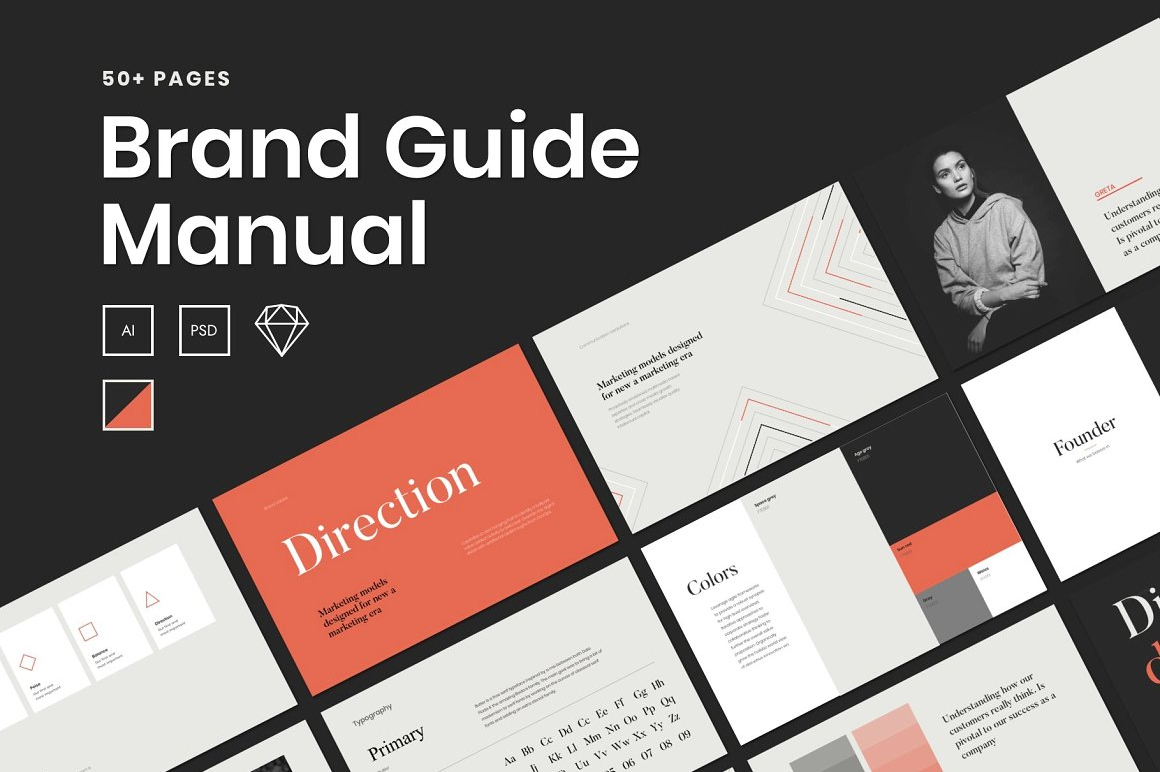 A Brand Guide - Clean Branding Guidelines Book