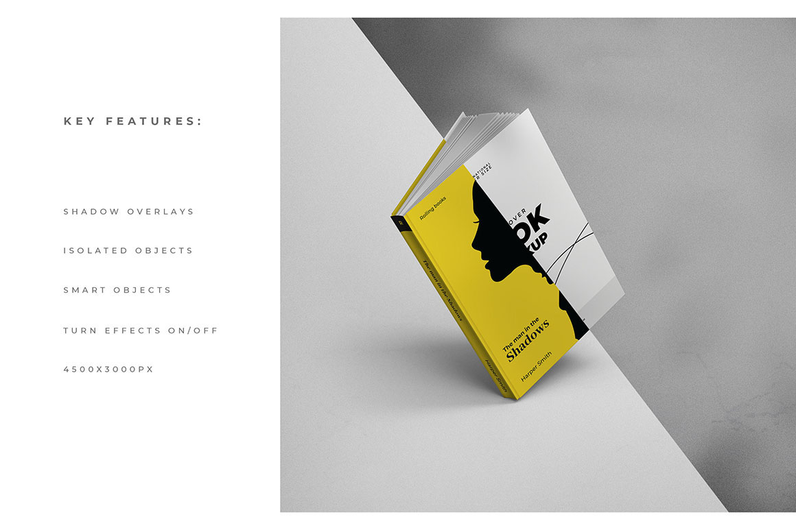 A5 Modern and Minimal Hardcover Book Mockups
