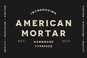 American Mortar - Vintage Font Family