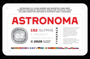 Astronoma - Typeface