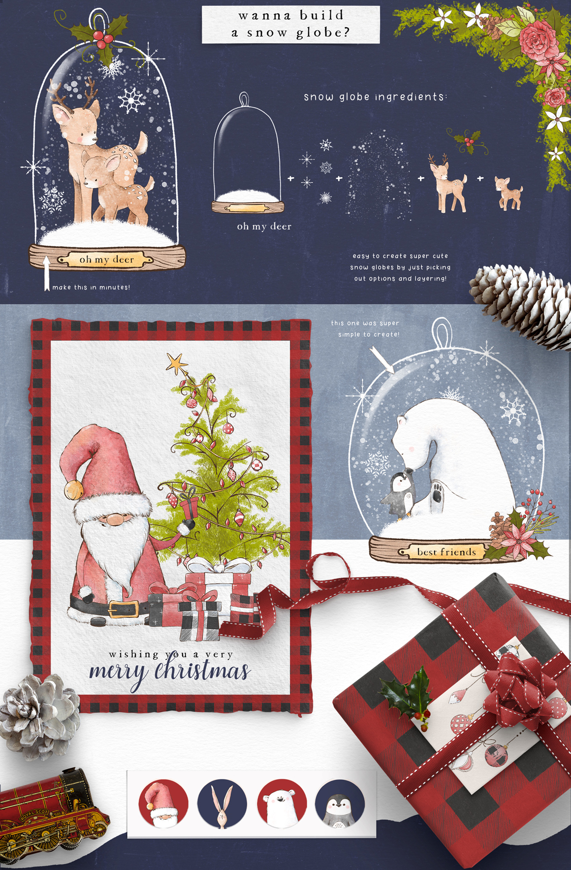 Chill Out Christmas Illustration Collection