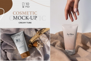 Cosmetic Tube Mockups - 10 .PSD