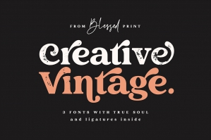 Creative Vintage Serif and Script Fonts