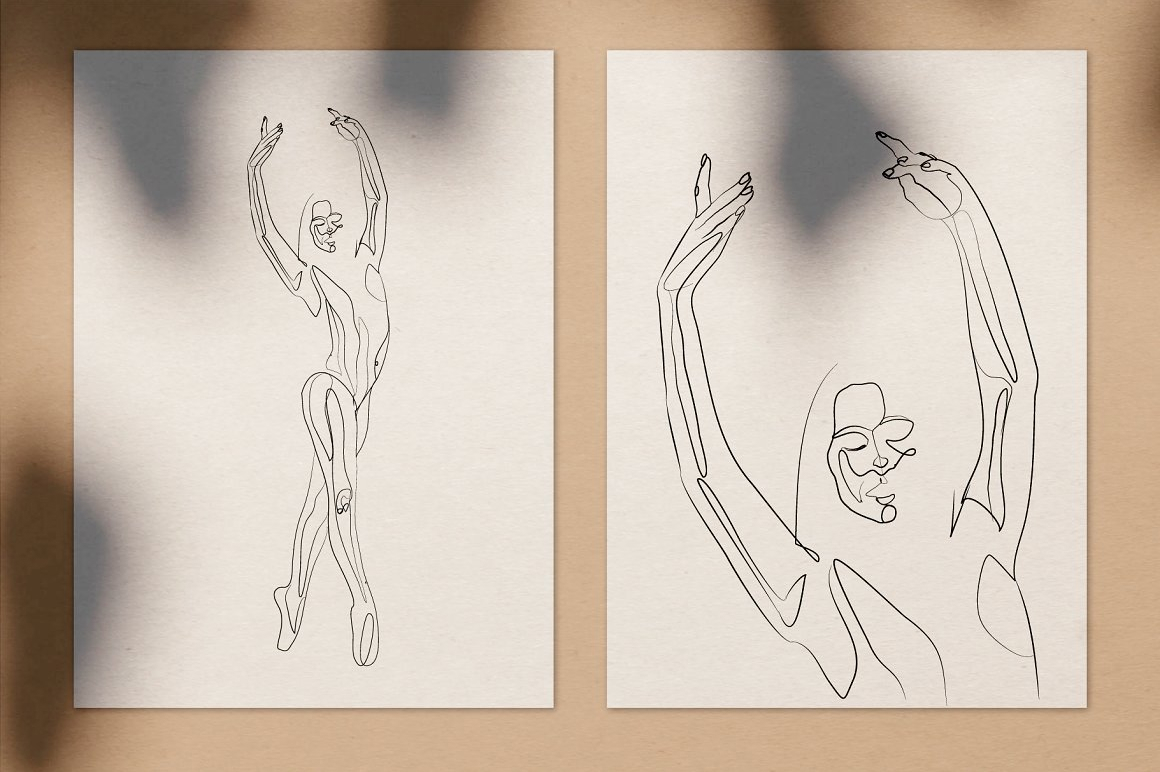 Danza - Dancer Line Art Drawings