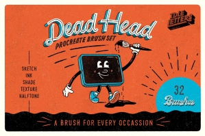 Dead Head Procreate Brush Set