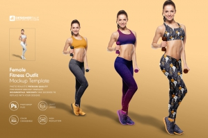 Female Fitness Outfit Mockup