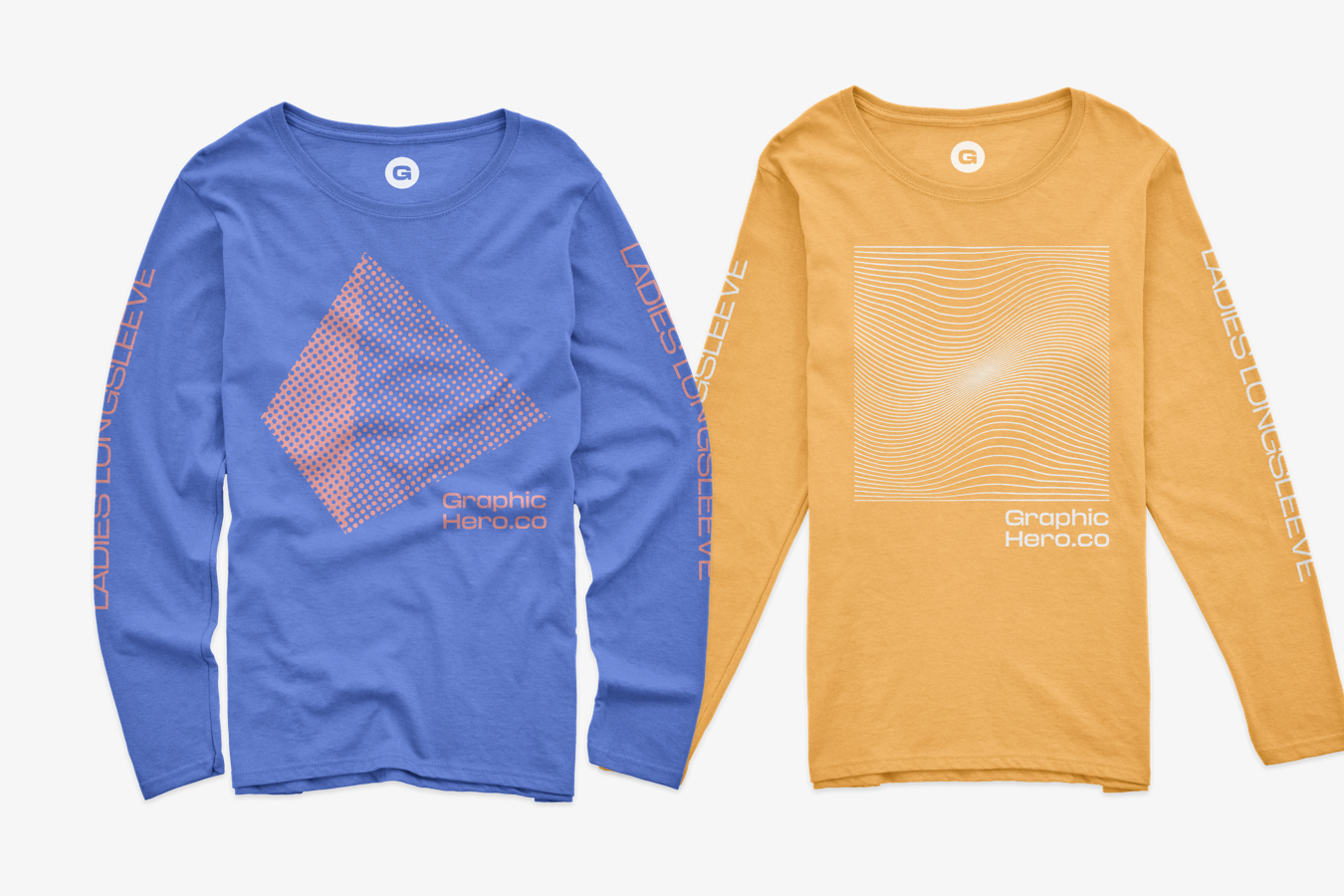 Gildan Ladies Long Sleeve Mockups