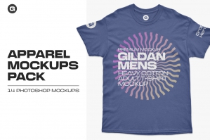 Gildan Mens Adult T-Shirt Mockups