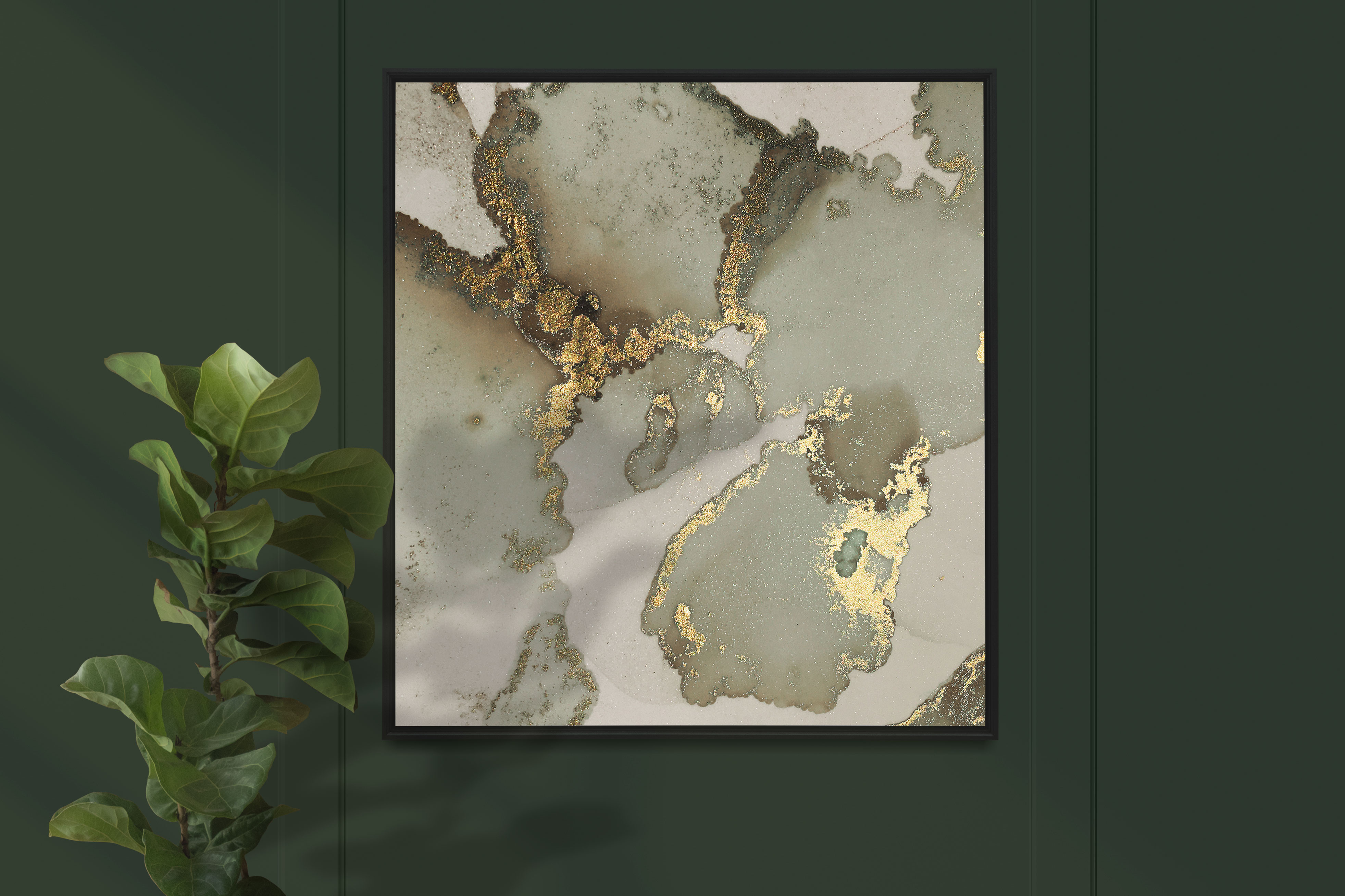 Gold Alcohol Ink Textures 2