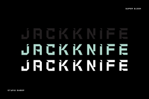 Jackknife - Edgy Display Font