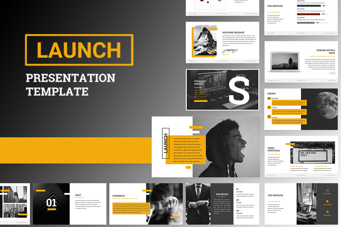 Launch Powerpoint Template