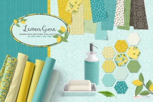 Lemon Grove Seamless Patterns and Graphics
