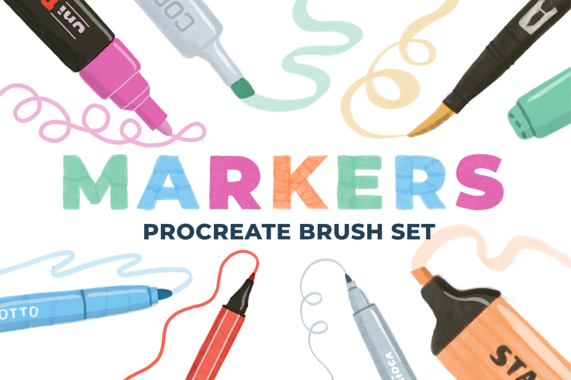 Markers Procreate Brush Set