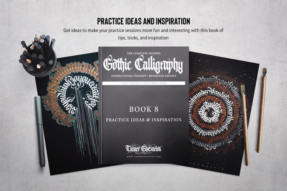 Modern Gothic Calligraphy Toolkit (Lowercase)