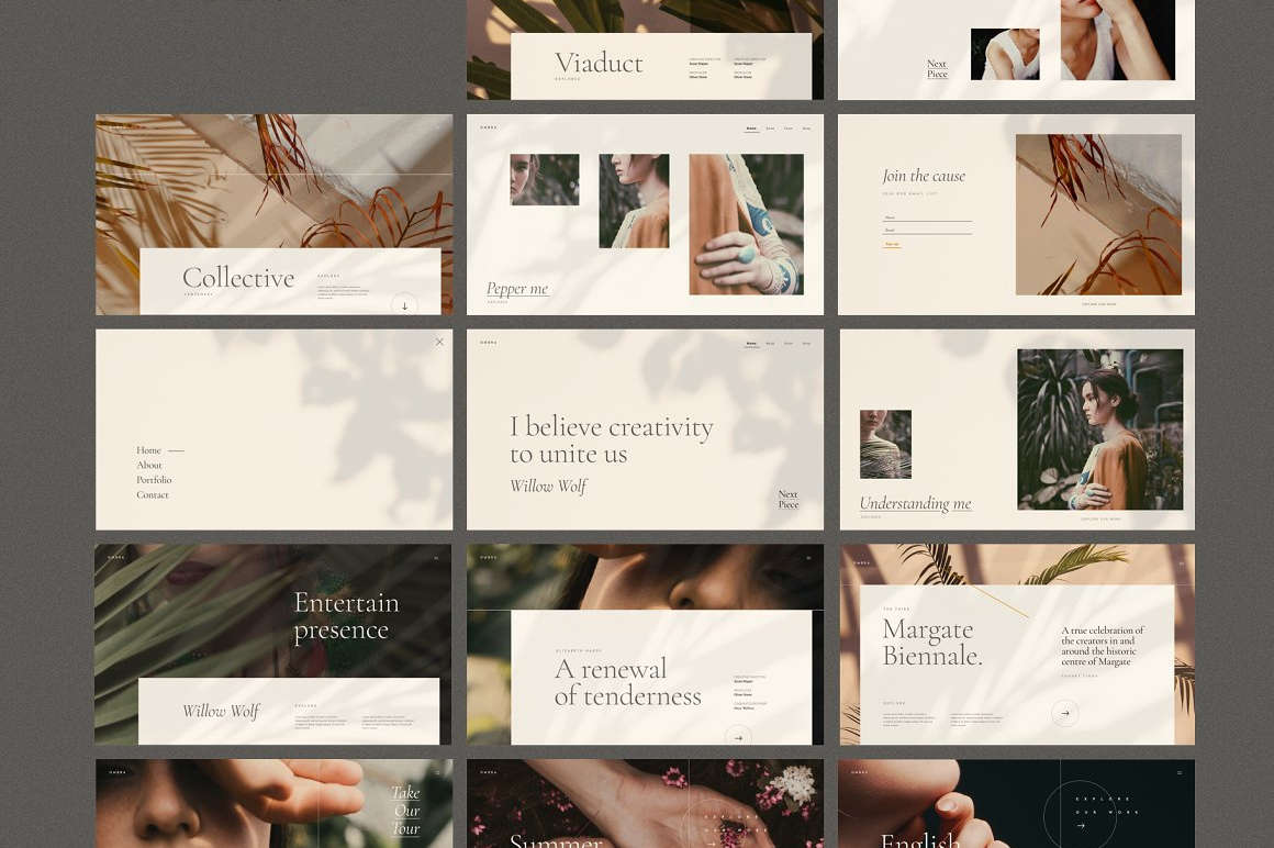 Ombra - UI Kit and Web Theme