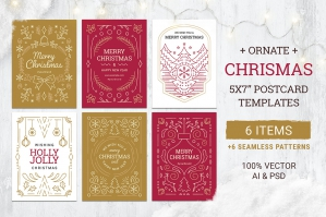 Ornate Christmas Card & Flyer Templates