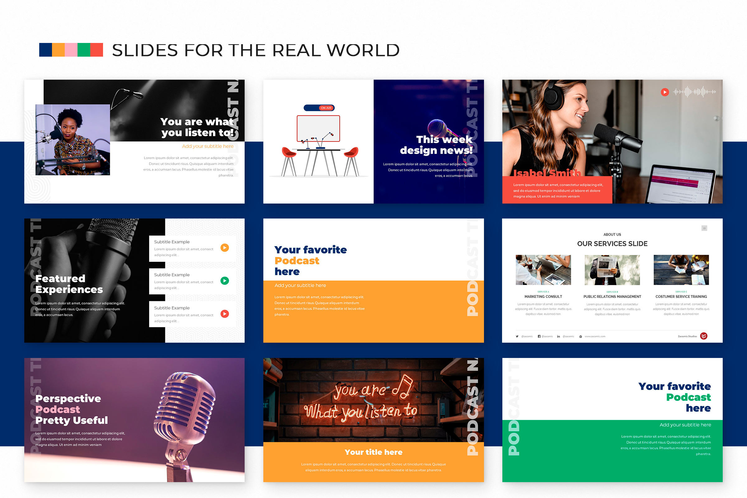 Podcast Powerpoint Template