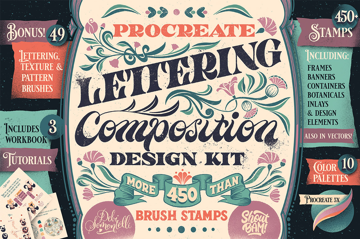 Procreate Lettering Composition Design Kit