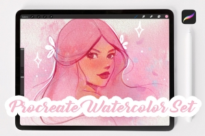 Procreate Watercolor Brush Set