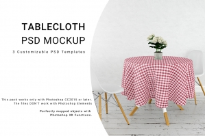 Round Tablecloth Mockup 2