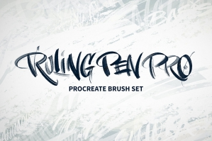 Ruling Pen Pro Procreate Brush Set