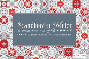Scandinavian Winter Christmas Patterns