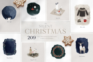 Silent Christmas Watercolor Set