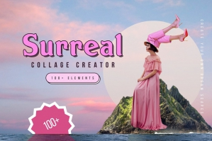 Surreal Collage Creator - Digital Art Maker Kit