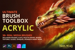 Ultimate Brush Toolbox - Acrylic Brushes