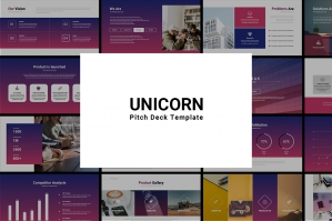 Unicorn Startup Pitch Deck Keynote Template