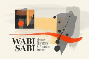 Wabi-Sabi - Photoshop and Procreate Stamp Brushes