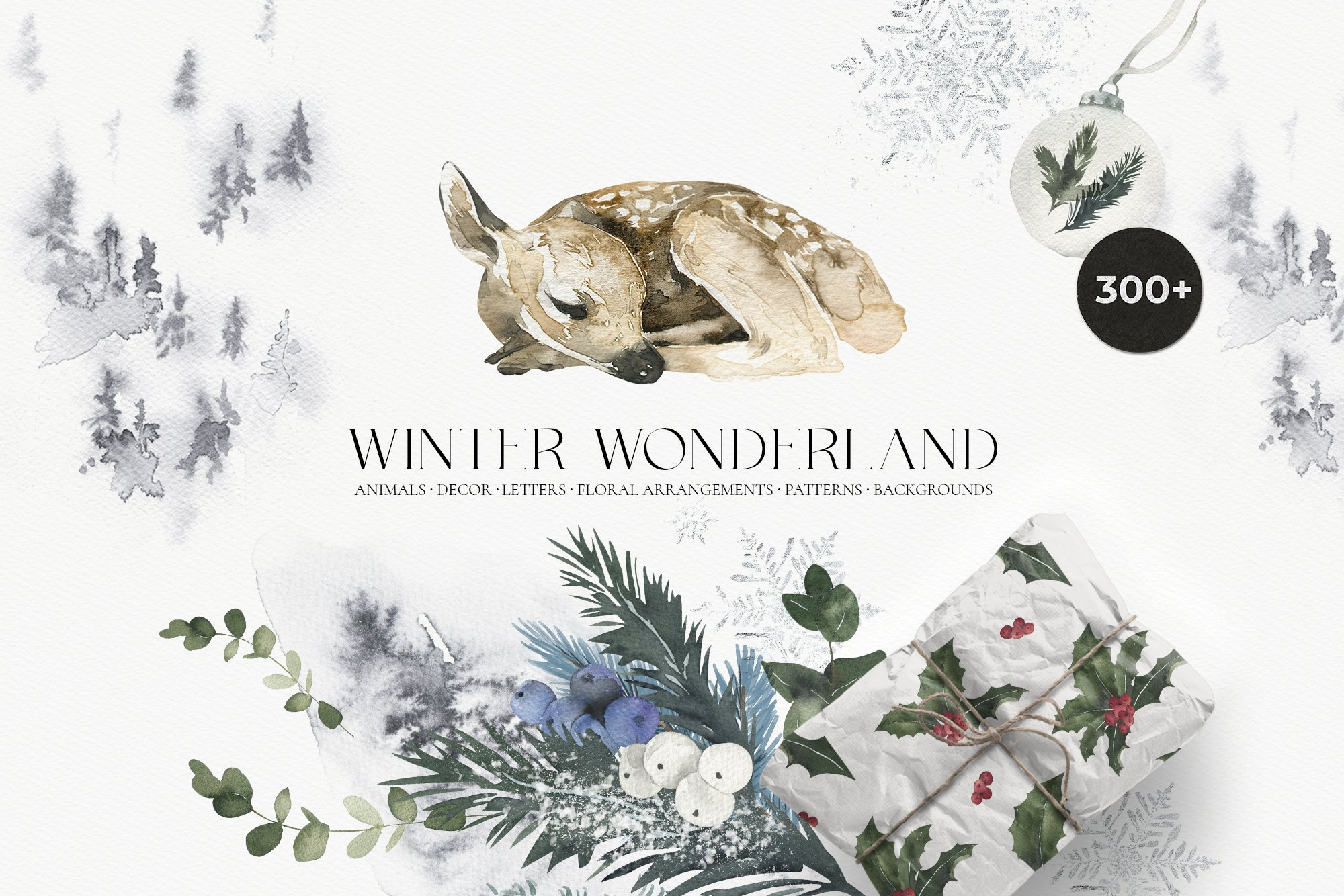 Winter Wonderland - Christmas Watercolor Set