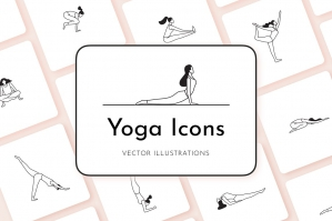 Yoga Icons: Pose Icon Illustrations
