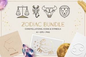 Zodiac Astrology Graphics Bundle
